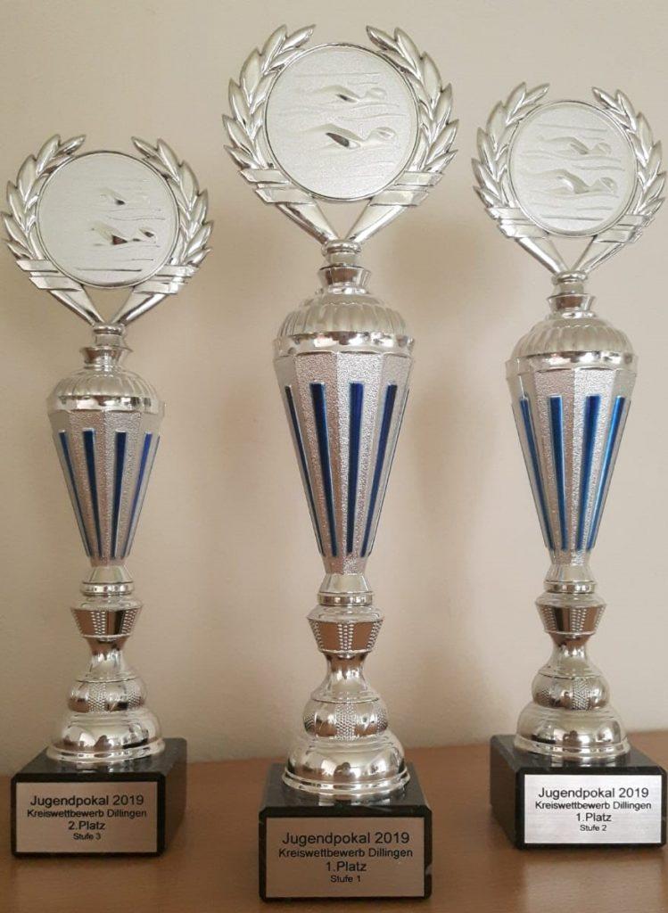 Pokal 2. Platz (Stufe 3) Pokal 1. Platz (Stufe 1) Pokal 1. Platz (Stufe 2)
